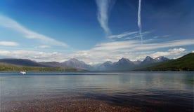 扁平头的冰川湖国家公园 库存照片