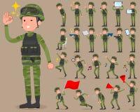 扁平式军事佩带man_2 库存图片