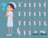 扁平式护士穿戴woman_1 皇族释放例证