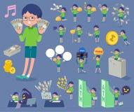 扁平式绿色衣物玻璃boy_money 库存图片