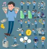 扁平式蓝色衣物玻璃dad_money 免版税库存图片