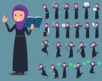 扁平式阿拉伯人woman_2 皇族释放例证