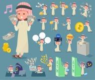 扁平式阿拉伯boy_money 图库摄影