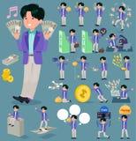 扁平式90s时尚men_money 向量例证