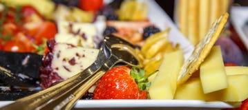 扁平的餐具用开胃菜 库存图片