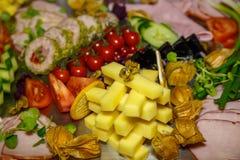 扁平的餐具用开胃菜 免版税图库摄影