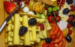 扁平的餐具用开胃菜 库存照片