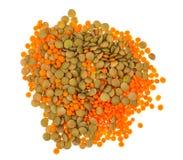 扁豆不同的品种在玻璃的 图库摄影
