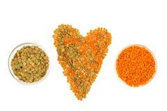 扁豆不同的品种在玻璃的 库存照片