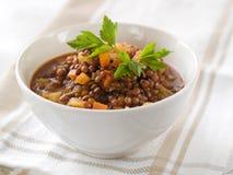 扁豆炖煮的食物 免版税库存照片