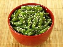 扁豆用芝麻 免版税库存图片