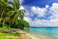 扇动海岛,共和国基里巴斯 免版税库存照片