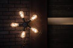扇形电灯 免版税库存图片