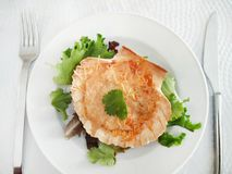 扇贝澳大利亚焦干酪膳食 免版税库存图片