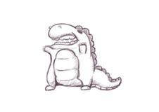 手上升恐龙 免版税库存照片