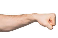 手与握紧了拳头 免版税库存图片