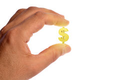 手中的美元的符号 免版税库存图片