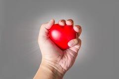 手举行心脏 库存照片