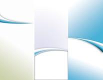 手册三折叠的模板 免版税图库摄影