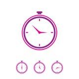 手册咖啡馆时钟设计叉子形成现有量图标匙子 免版税库存图片