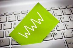 手写文本万维网 概念网上内容意思网络在HTML格式化了并且通过HTTP访问了 库存图片