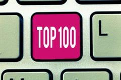 手写文本名列前茅100 概念最佳的产品意思名单为普遍的畅销书优质高速率服务 库存照片