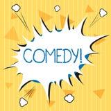 手写文本喜剧 意味专业娱乐笑话剪影的概念使观众笑幽默 向量例证