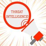 手写文本威胁智力 关于潜在的攻击的概念意思被分析的和被提炼的信息 皇族释放例证