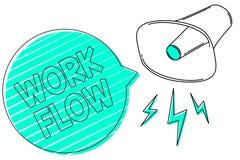 手写文本工作流程 概念某一任务的意思连续性到/从办公室或雇主扩音机扩音器g的 向量例证