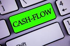 手写文本收入现款额 意味金钱的真正运动的概念由公司在绿色Ke写的财务处统计 库存照片
