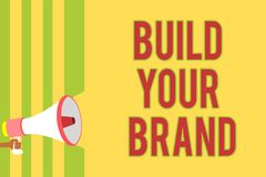 手写文本文字修造您的品牌 概念意思做一个商业身分营销广告倍数 皇族释放例证
