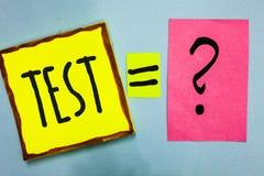 手写文本文字意味学术系统做法的测试概念估计可靠性耐久性熟练尼斯颜色g 免版税库存照片