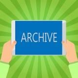 手写文本文字档案 概念意思汇集历史文件记录提供信息 库存例证