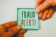 手写文本文字欺骗戒备诱导电话 被怀疑的概念意思安全消息欺骗活动 免版税库存照片