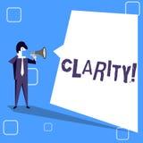 手写文本文字清晰 概念意思把握精确度纯净可理解性透明度准确性 库存例证