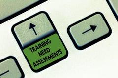 手写文本文字训练需要评估 概念意思确定锻炼要求填补空白 免版税库存照片