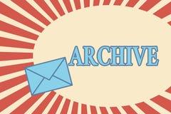 手写文本档案 概念意思汇集历史文件记录提供信息 向量例证