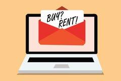 手写文本购买问题租 意味提供关于接受电子邮件淘气鬼的租用房计算机的信息的小组的概念 皇族释放例证