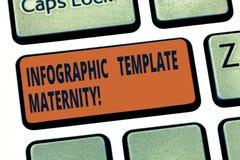 手写文本Infographic模板母道 意味母性元素、材料和指南键盘的概念 图库摄影
