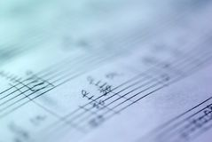 手写的乐谱 免版税图库摄影