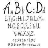 手写的书法信件 scrapbooking向量的字母表要素 库存例证