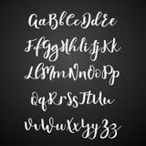 手写的书法字体 scrapbooking向量的字母表要素 拉长的现有量信函 皇族释放例证