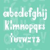 手写的书法字体 scrapbooking向量的字母表要素 拉长的现有量信函 向量例证