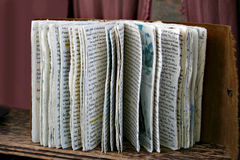 手写的书 免版税库存照片