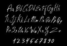 手写的在上写字的向量字体白色  向量例证
