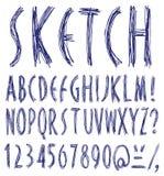 手写的字体。 免版税库存照片