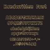 手写的字体,墨水样式 免版税库存图片