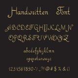 手写的字体,墨水样式 库存图片