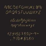 手写的字体,墨水样式 免版税库存照片