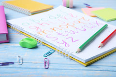 手写的字母表 免版税库存图片
